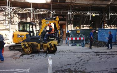 Przyłącza kanalizacji deszczowej na ul. Krupniczej w Krakowie